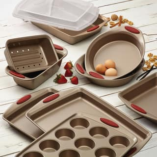 Rachael Ray Cucina Latte Brown Nonstick 10-Piece Bakeware Set|https://ak1.ostkcdn.com/images/products/10108129/P17248847.jpg?impolicy=medium