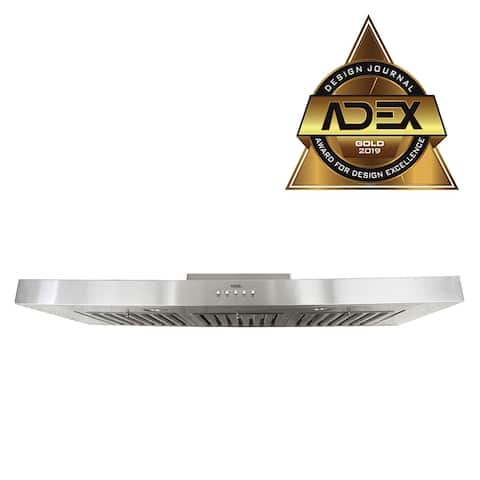 Brillia 42-inch 750 CFM. Under Cabinet Range Hood, with LED Lights, and Baffle Filters