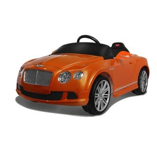 Rastar Bentley GTC 6V Battery Operated and Remote Controlled Orange Ride On Car