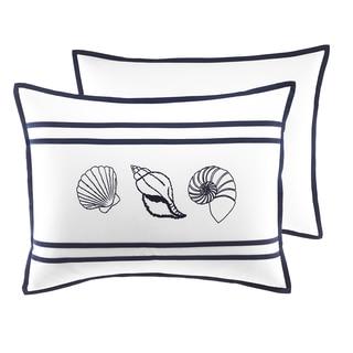 Croscill Montego Bay Nautical White and Blue Standard Sham
