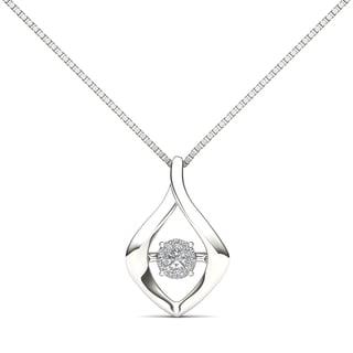 De Couer 10k White Gold 1/10ct TDW Diamond Fashion Necklace (H-I, I2)