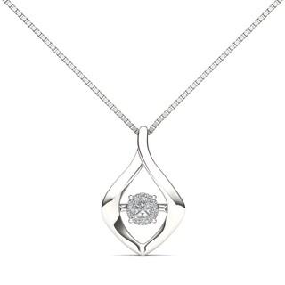 De Couer 10k White Gold 1/10ct TDW Diamond Fashion Necklace