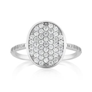 925 Sterling Silver Cubic Zirconia Oval Midi Ring (3 options available)