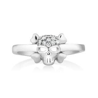 925 Sterling Silver Cubic Zirconia Skull Midi Ring (Option: 2)|https://ak1.ostkcdn.com/images/products/10108284/P17248981.jpg?impolicy=medium