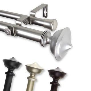 emery adjustable double curtain rod