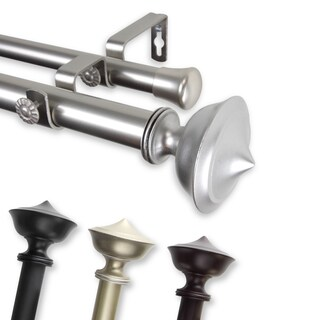 InStyleDesign Emery Adjustable Double Curtain Rod