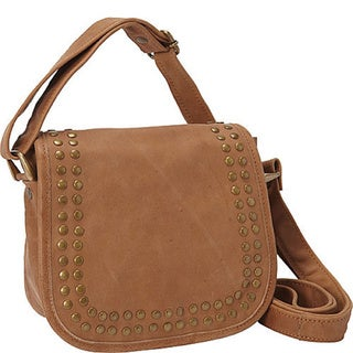 Sharo Small Studded Leather Cross Body Bag