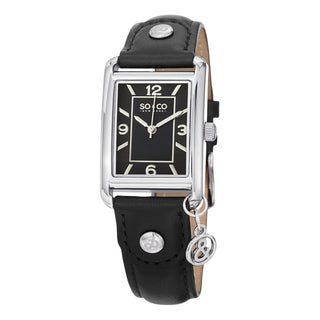 SO&CO New York Women's Quartz Madison Stainless Steel Leather Band Watch