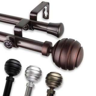 InStyleDesign Piper Adjustable Double Curtain Rod