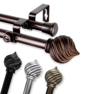 InStyleDesign Mya Adjustable Double Curtain Rod