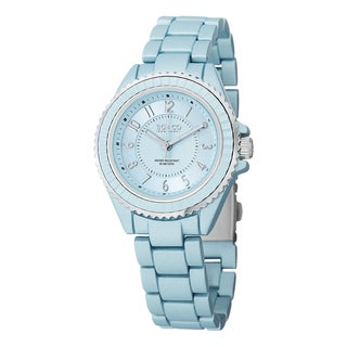 SO&CO New York Women's SoHo Quartz Blue Watch with Alloy Link Bracelet