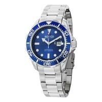 SO&CO New York Men's Quartz Yacht Timer Quartz Watch with Stainless Steel Link Bracelet