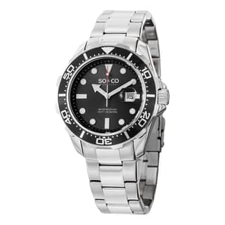 SO&CO New York Men's Quartz Yacht Club Watch with Stainless Steel Link Bracelet|https://ak1.ostkcdn.com/images/products/10108344/P17248378.jpg?impolicy=medium