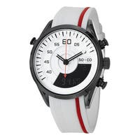 SO&CO New York Men's Monticello Digital Quartz White and Red Watch with Rubber Strap