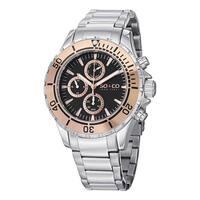 SO&CO New York Men's Quartz Yacht Club Quartz Watch with Stainless Steel Link Bracelet - Silver