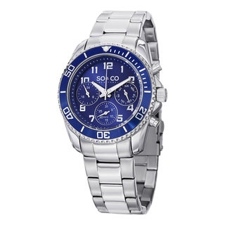 SO&CO New York Men's Yacht Club Quartz Multifunction Watch with Stainless Steel Link Bracelet