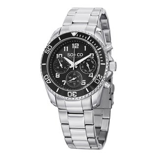 SO&CO New York Men's Yacht Club Quartz Multifunction Watch with Stainless Steel Link Bracelet - Silver