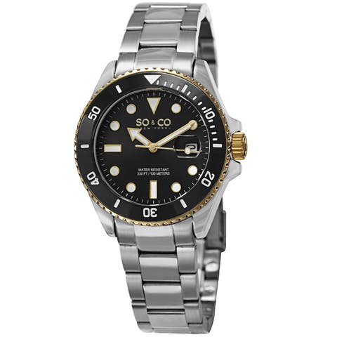 8f3d35b6941 SO CO New York Men s Quartz Yacht Club Stainless Steel Bracelet Watch -  Silver