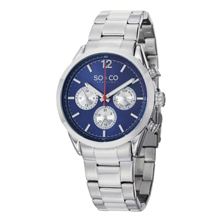 SO&CO New York Men's Monticello Stainless Steel Quartz Day and Date Watch