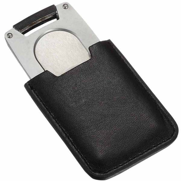 Visol Pizon Cigar Cutter with Black Leather Case