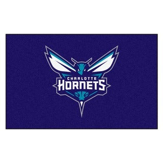 Fanmats Machine-made Charlotte Bobcats Blue Nylon Ulti-Mat (5' x 8')