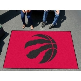 Fanmats Machine-made Toronto Raptors Black Nylon Ulti-Mat (5' x 8')