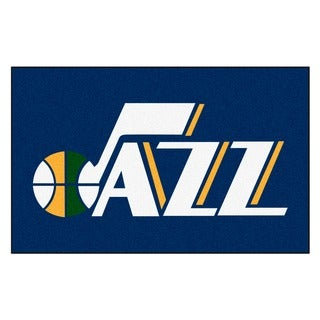 Fanmats Machine-made Utah Jazz Blue Nylon Ulti-Mat (5' x 8')