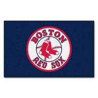 Fanmats Machine-made Boston Red Sox Blue Nylon Ulti-Mat (5' x 8')