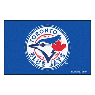 Fanmats Machine-made Toronto Blue Jays Blue Nylon Ulti-Mat (5' x 8')