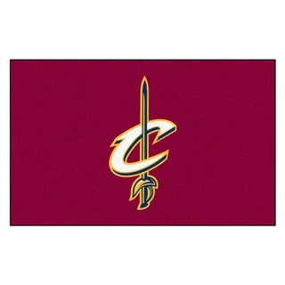 Fanmats Machine-made Cleveland Cavaliers Blue Nylon Ulti-Mat (5' x 8')