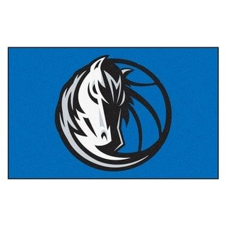 Fanmats Machine-made Dallas Mavericks Black Nylon Ulti-Mat (5' x 8')