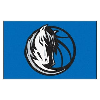 Fanmats Machine-made Dallas Mavericks Black Nylon Ulti-Mat (5' x 8')|https://ak1.ostkcdn.com/images/products/10108429/P17248996.jpg?impolicy=medium