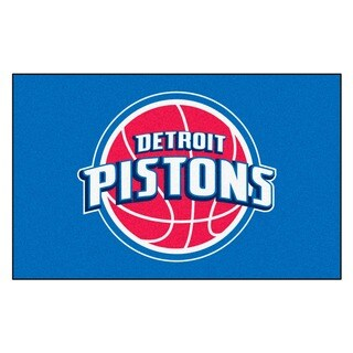 Fanmats Machine-made Detroit Pistons Blue Nylon Ulti-Mat (5' x 8')