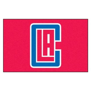 Fanmats Machine-made Los Angeles Clippers Blue Nylon Ulti-Mat (5' x 8')