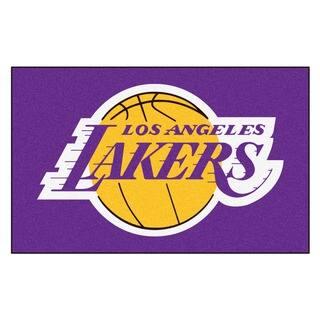 Fanmats Machine-made Los Angeles Lakers Black Nylon Ulti-Mat (5' x 8')|https://ak1.ostkcdn.com/images/products/10108437/P17249003.jpg?impolicy=medium