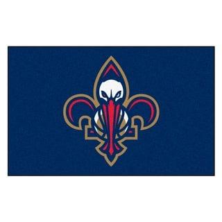 Fanmats Machine-made New Orleans Pelicans Blue Nylon Ulti-Mat (5' x 8')