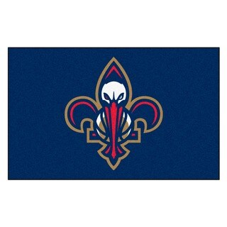 Fanmats Machine-made New Orleans Pelicans Blue Nylon Ulti-Mat (5' x 8')