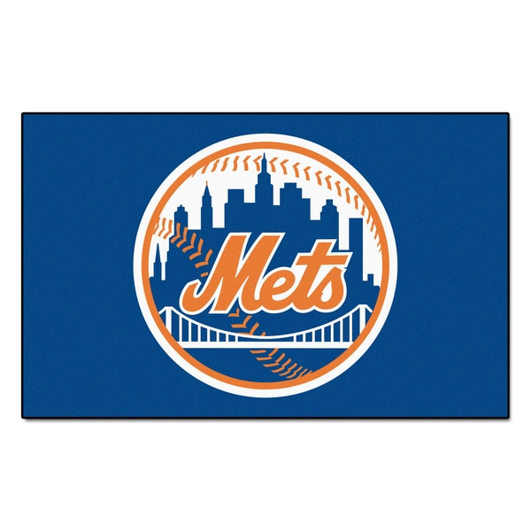 Fanmats Machine-made New York Mets Blue Nylon Ulti-Mat (5' x 8')