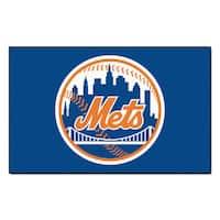 Fanmats Machine-made New York Mets Blue Nylon Ulti-Mat (5' x 8')