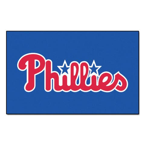 Fanmats Machine-made Philadelphia Phillies Blue Nylon Ulti-Mat (5' x 8')