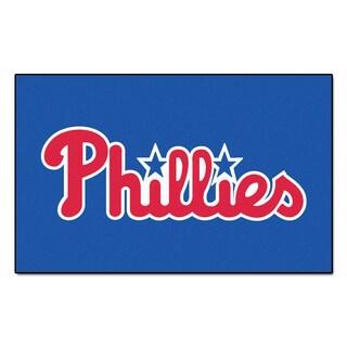 Fanmats Machine-made Philadelphia Phillies Blue Nylon Ulti-Mat (5' x 8')