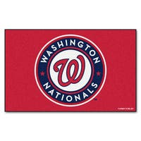 Fanmats Machine-made Washington Nationals Red Nylon Ulti-Mat (5' x 8')