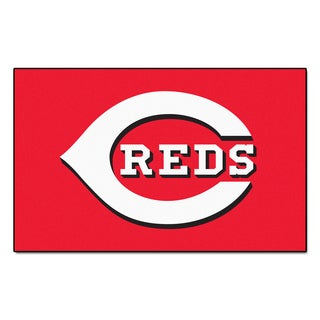 Fanmats Machine-made Cincinnati Reds Red Nylon Ulti-Mat (5' x 8')