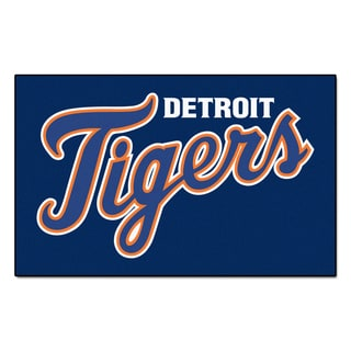 Fanmats Machine-made Detroit Tigers Blue Nylon Ulti-Mat (5' x 8')
