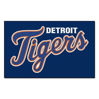 Fanmats Machine-made Detroit Tigers Blue Nylon Ulti-Mat (5' x 8')