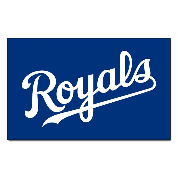 Fanmats Machine-made Kansas City Royals Blue Nylon Ulti-Mat (5' x 8')