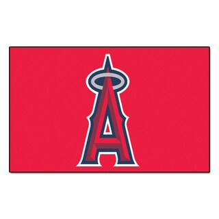 Fanmats Machine-made Los Angeles Angels Red Nylon Ulti-Mat (5' x 8')