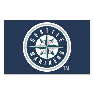Fanmats Machine-made Seattle Mariners Blue Nylon Ulti-Mat (5' x 8')