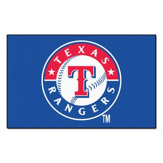 Fanmats Machine-made Texas Rangers Blue Nylon Ulti-Mat (5' x 8')