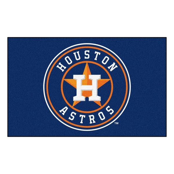 Fanmats Machine-made Houston Astros Blue Nylon Ulti-Mat (5' x 8')